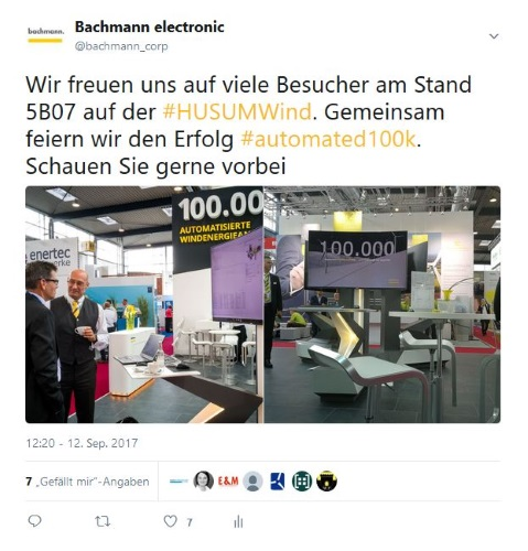 Social Media Bachmann electronic